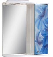 Зеркало в ванную Синие цветы