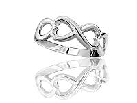 Серебряное родированное кольцо Бесконечность к0443
