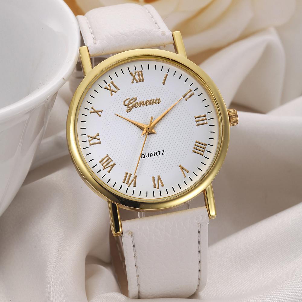 Женские часы Geneva Classic Gold белые