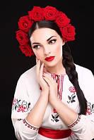 """Украинский ободок венок """"Розы""""  , фото 1"""