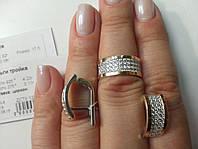 Шикарный набор серебро 925 пробы с вставками золота 375 пробы с жемчюгом