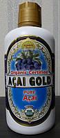 """Сок для профилактики сердечно-сосудистых заболеваний Асаи """"Organic Acai Gold Pure"""" (Euterpe oleracea), 946 мл."""