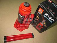 Домкрат бутылочный, 10т, красный H=200/385