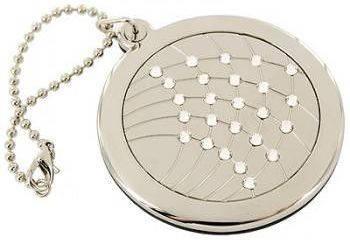 Непревзойденное карманное зеркальце на цепочке  Jardin D'ete 98-0798, серебристый
