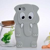 Силиконовый чехол Серый слон для Iphone 5/5S