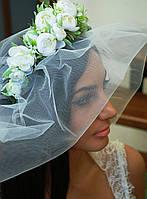 """Свадебный обруч венок """"Белые розы""""  , фото 1"""