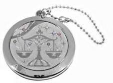 Оригинальное карманное зеркальце на цепочке Jardin D'ete 98-0865, серебристый