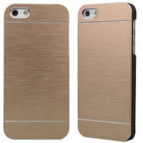 Алюминиевый чехол накладка MOTOMO для iPhone 5/5s