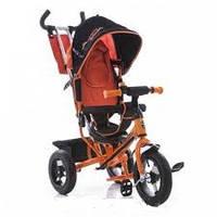 Велосипед детский трехколесный azimut air lamborghini. колеса пена. оранжевый