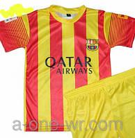 Детская (3-9 лет) футбольная форма ''Неймар'' - ФК''Барселона'' (2013/2014) - желто-красная, гостевая
