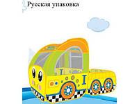 Палатка детская игровая  889-163B машина-грузовик желтый