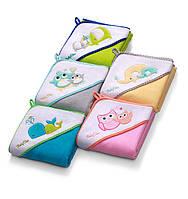 Полотенце с капюшоном после купания для младенцев (велюр) BabyOno, 75х75см