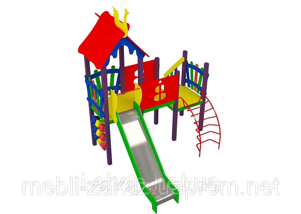 Комплектация детского комплекса «Солнышко» высота горки 1,2 м