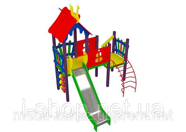 Комплектация детского комплекса «Солнышко» высота горки 1,2 м, фото 2
