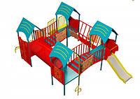Детский комплекс Счастье DKE019 (высота горки 0,6 м)