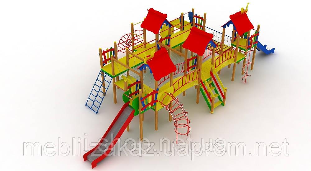 """Детский комплекс """"Остров"""", высота горок 1,2 м. и 1,5 м."""