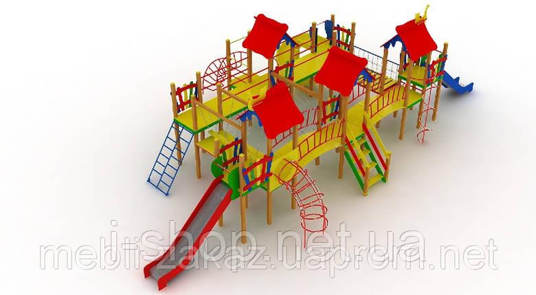 """Детский комплекс """"Остров"""", высота горок 1,2 м. и 1,5 м., фото 2"""