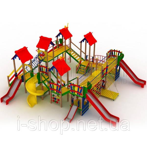 """Детский комплекс """"Крепость"""", высота горок 1,5 м., 1,2 м. и 0,6 м."""
