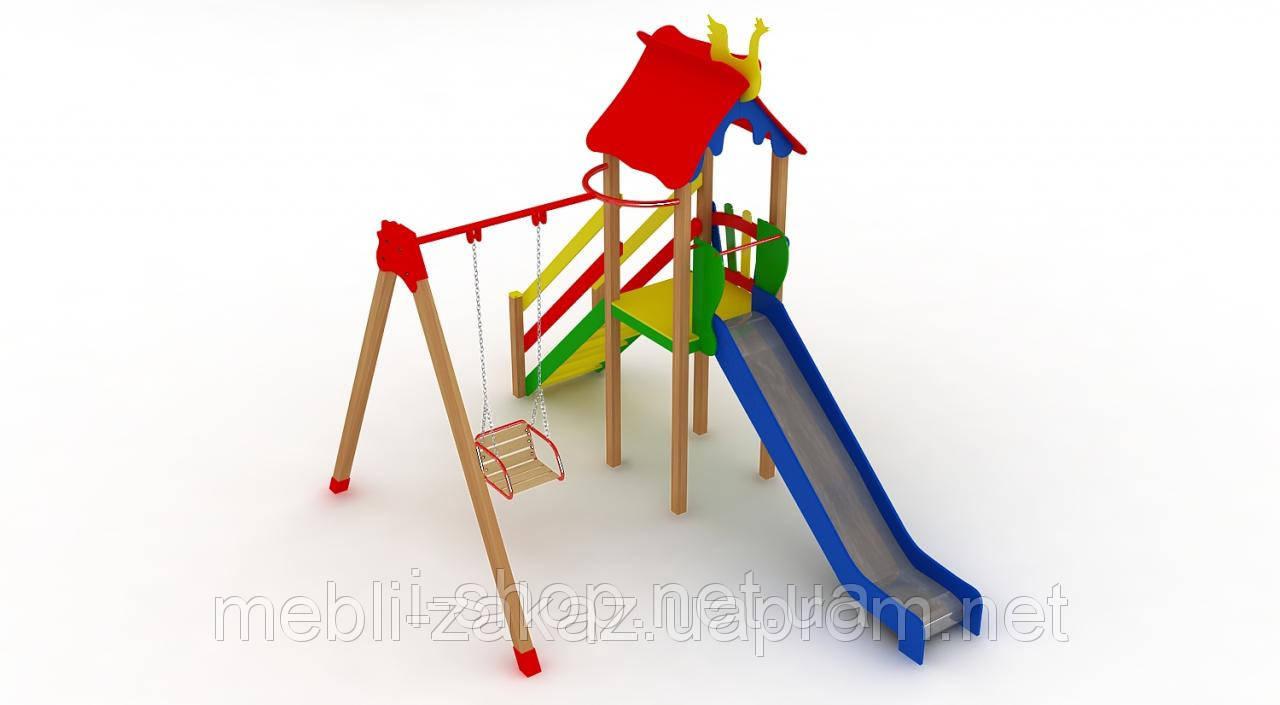 """Детский комплекс """"Кроха"""", высота горки 1,25"""