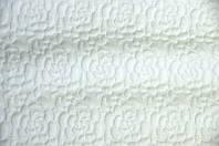 Ткань трикотаж 3D Роза (Цвет Белый), фото 1