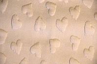 Ткань трикотаж 3D Сердце (Цвет Бежевый)