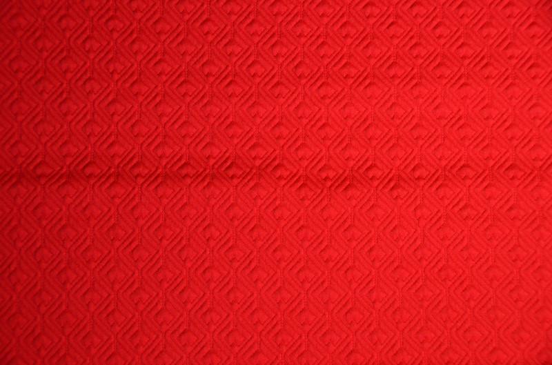 Ткань трикотаж Сердечко маленькое [Цвета в ассортименте] (Цвет Алый)