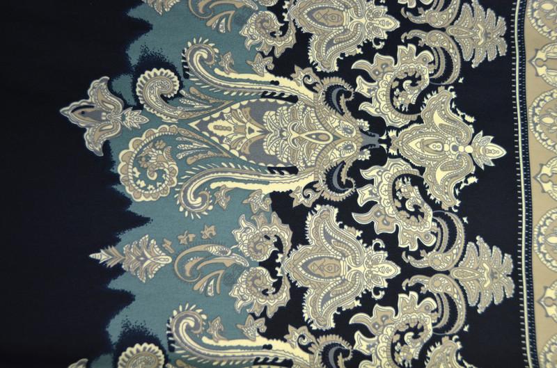 Ткань трикотаж Узор (Цвет Бежевый)