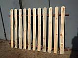 Штакетник деревянный садовый высотой 40 см, фото 5