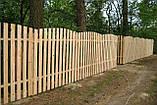 Штакетник деревянный садовый высотой 40 см, фото 7