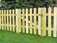 Штакетник деревянный садовый высотой 60 см