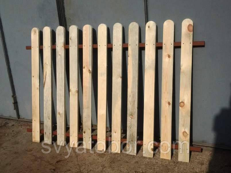 Штакетник деревянный садовый высотой 100 см