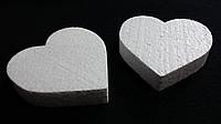 Заготовка из пенопласта - сердце плоское 85 мм (10)