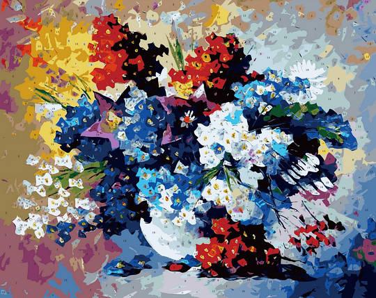 Набор-раскраска по номерам Букет весенних цветов худ. Афремов Леонид, фото 2