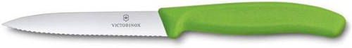 Надежный кухонный нож для нарезки фруктов и овощей Victorinox SwissClassic 67736.L4 зеленый