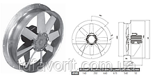 Сушильный вентилятор 500/SU/8-8/50/400L