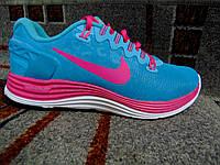 Женские повседневные кроссовки LUNARLON бирюзовые с розовым