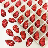 Пришивные капли (синтетич.стекло).  Цвет  Indian Siam 11x18*1шт