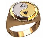 Кольцо мужское серебряное Инь-Янь 30370, фото 2