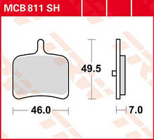 Колодки тормозные для BUELL 1125 R TRW / Lucas MCB811SH