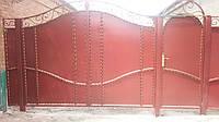 Ворота дворовые с калиткой. Отличный вариант недорогих ворот. Покраска с гарантией. Доставка, установка.