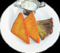 Сыр жареный во фритюре с ветчиной