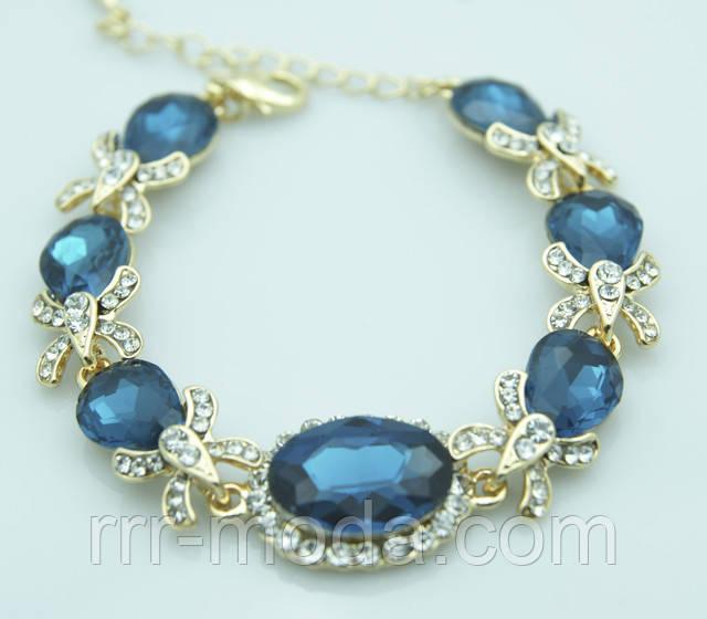Роскошные вечерние браслеты с крупными кристаллами оптом на Украине. Нарядные браслеты от бижутерии оптом RRR.