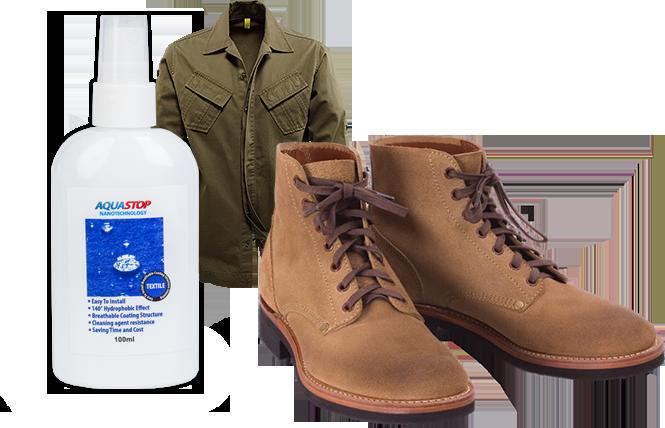 Водоотталкивающая пропитка для защиты обуви и одежды AquaStop