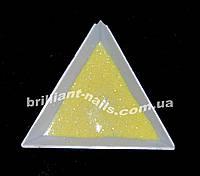 Глиттер желтый с белым мерцанием, фото 1
