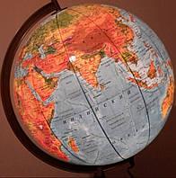 Политический глобус (без подсветки)/Физический (с подсветкой)  42 см. дерев. ножка