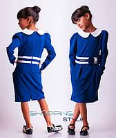 Детское платье для девочки теплое