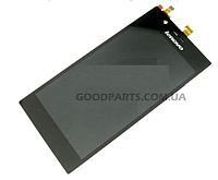Дисплей с тачскрином для Lenovo K900 черный (Оригинал)