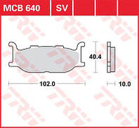 Yamaha тормозные колодки TRW / Lucas MCB640SV