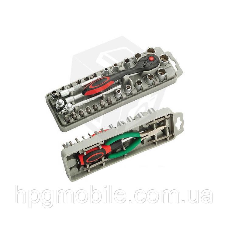 Набор насадок с трещоткой и длинногубцами Pro'sKit SD-2308M