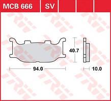MBK/YAMAHA тормозные колодки TRW / Lucas MCB666SV